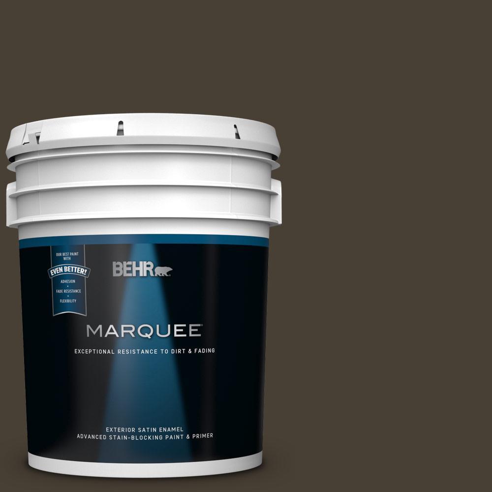 Best Brand Of Interior Paint: BEHR MARQUEE 5 Gal. #PPU5-20 Sweet Molasses Satin Enamel