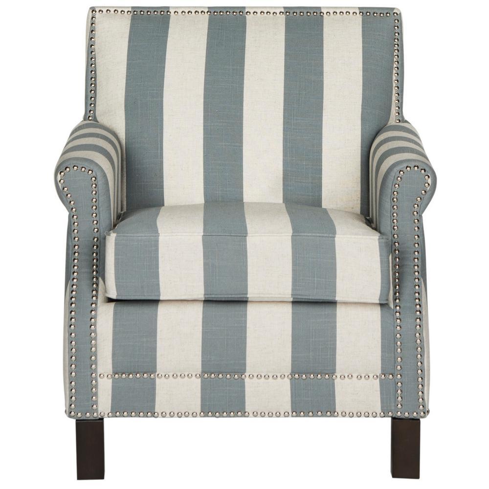 Easton Gray/White/Espresso Accent Chair