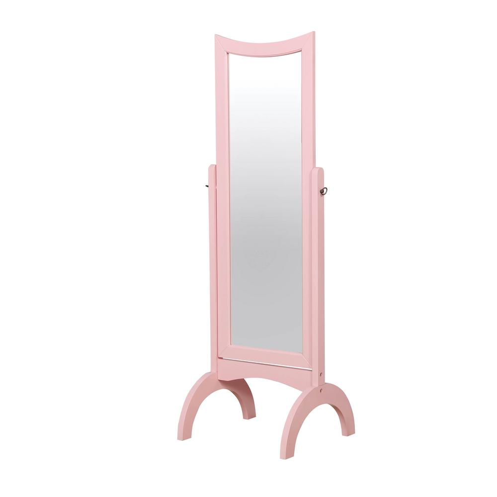 Chambray 59.25 in. H x 19.25 in. W Pink Wooden Rectangular Full length Floor Mirror