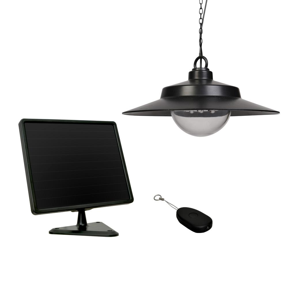 Sunforce Black Solar Hanging Light With Remote