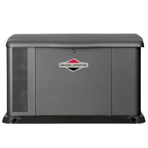 Click here to buy Briggs & Stratton 17,000-Watt Air Cooled Home Standby Generator with 100 Amp Symphony II Transfer Switch by Briggs & Stratton.