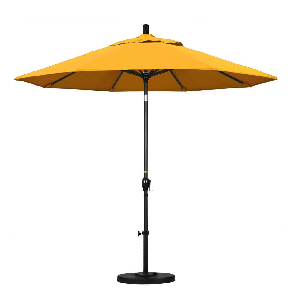 9 ft. Aluminum Push Tilt Patio Umbrella in Yellow Pacifica