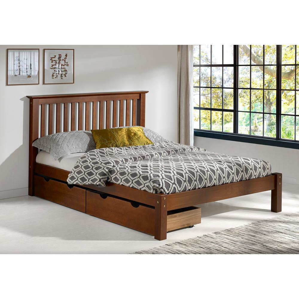 Barcelona Chestnut Full Bed with Storage Drawers