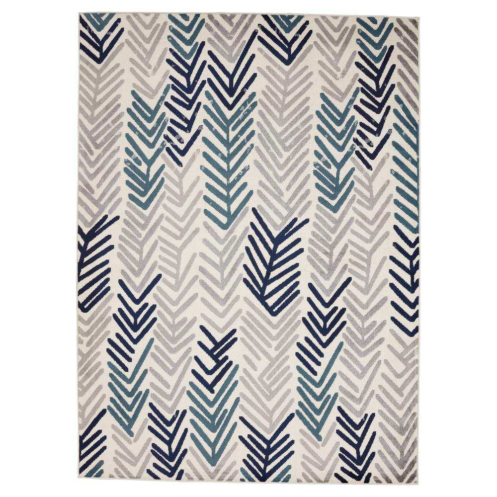 Ideal Jasmin Collection Moroccan Trellis Design Navy and Ivory 8 ft. x  BX71