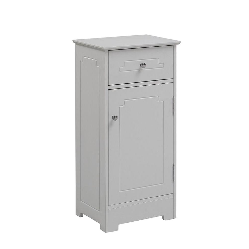 Runfine 16 in w x 32 in h x 12 in d wood bathroom linen storage floor cabinet in white for Home depot bathroom floor cabinets