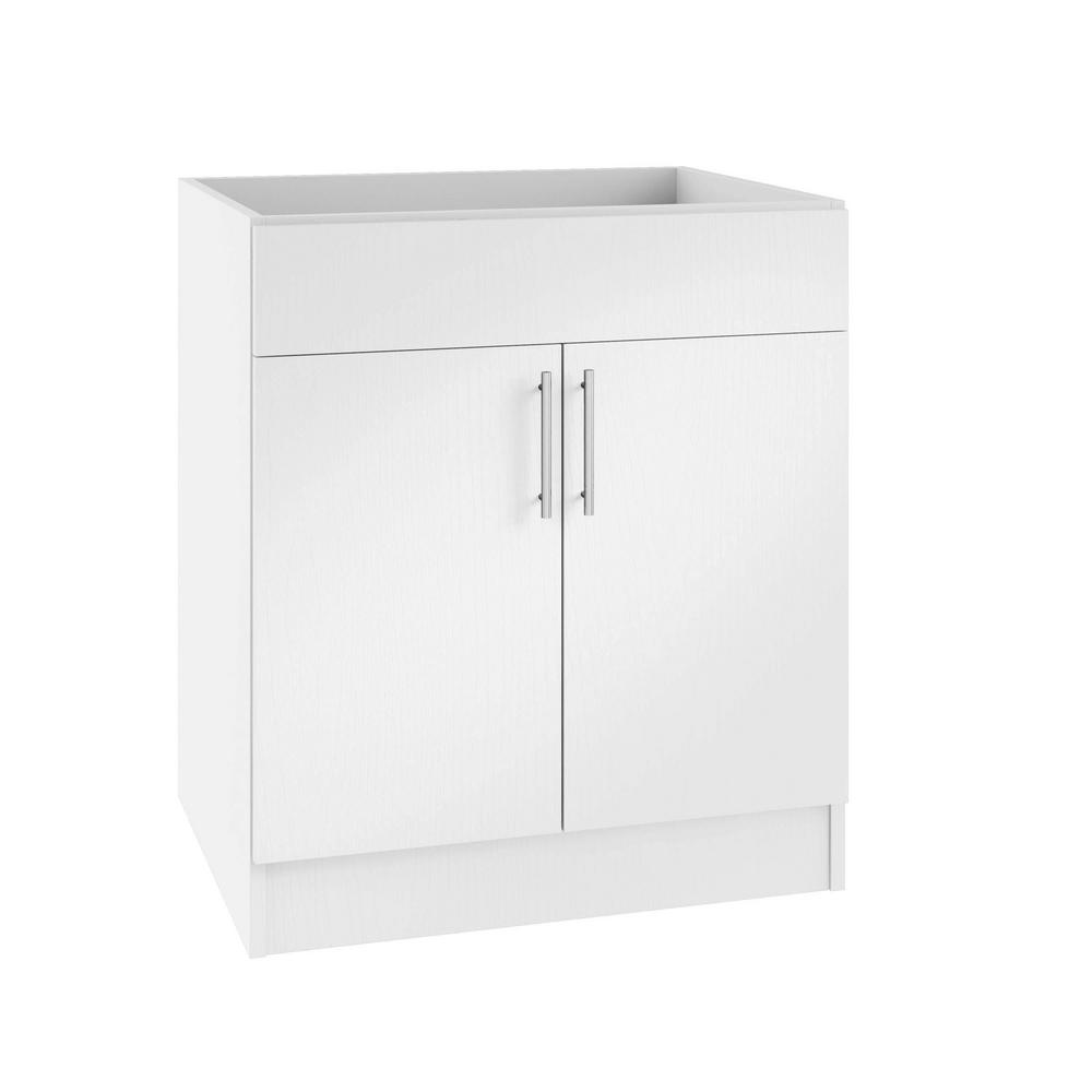 Tremendous Weatherstrong Assembled 30X34 5X24 In Miami Island Sink Outdoor Kitchen Base Cabinet With 2 Doors In Radiant White Interior Design Ideas Apansoteloinfo
