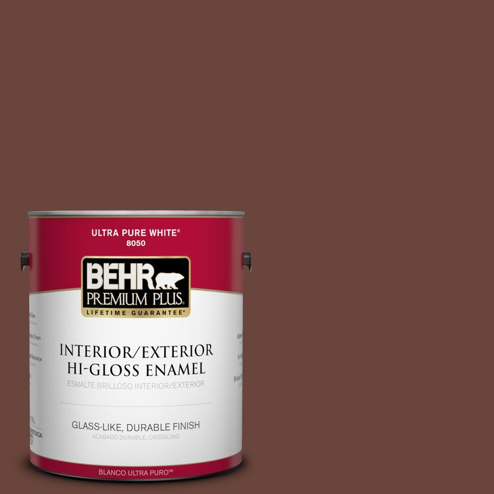 1-gal. #190F-7 Mayan Red Hi-Gloss Enamel Interior/Exterior Paint