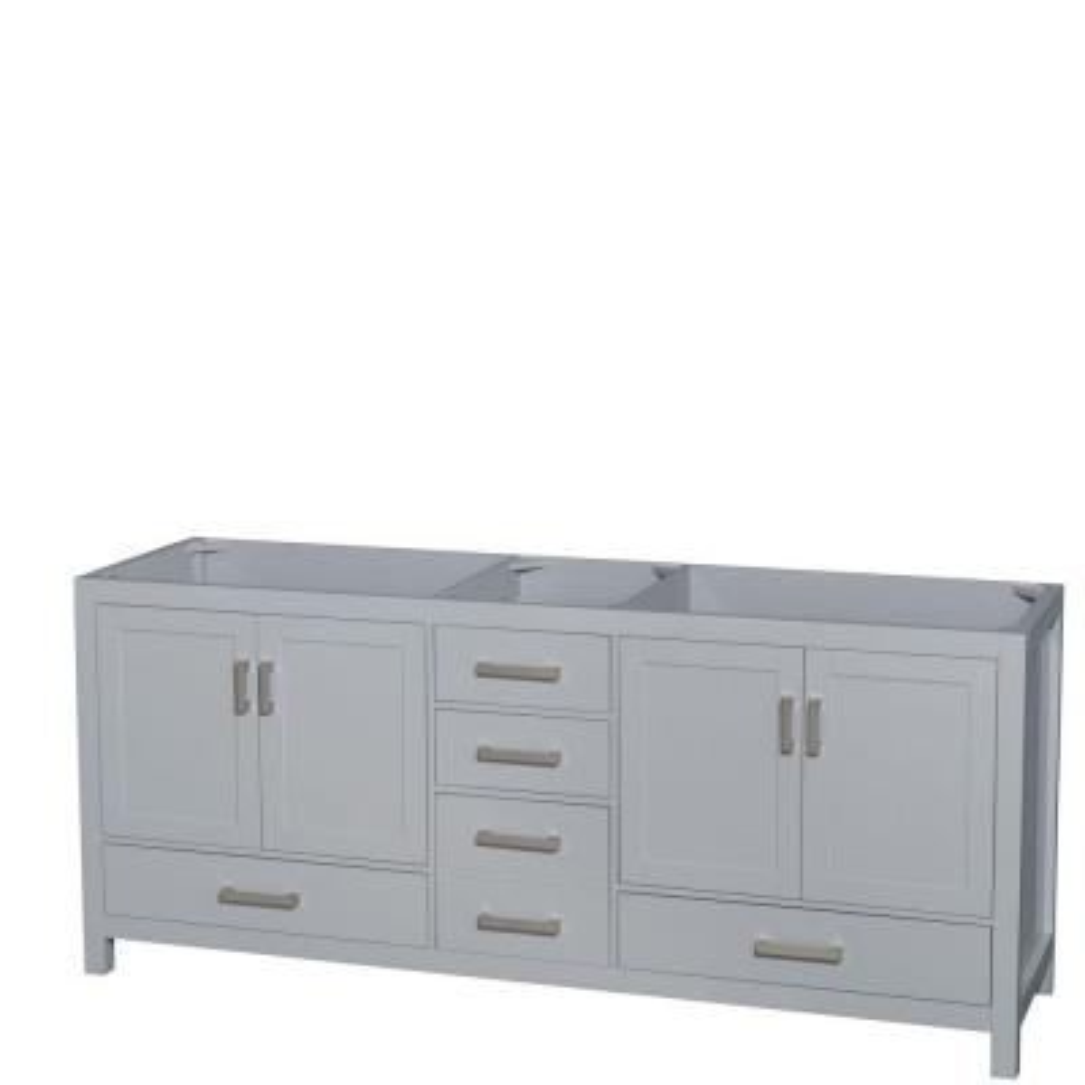 Sheffield 80 in. W x 22 in. D Vanity Cabinet in Gray