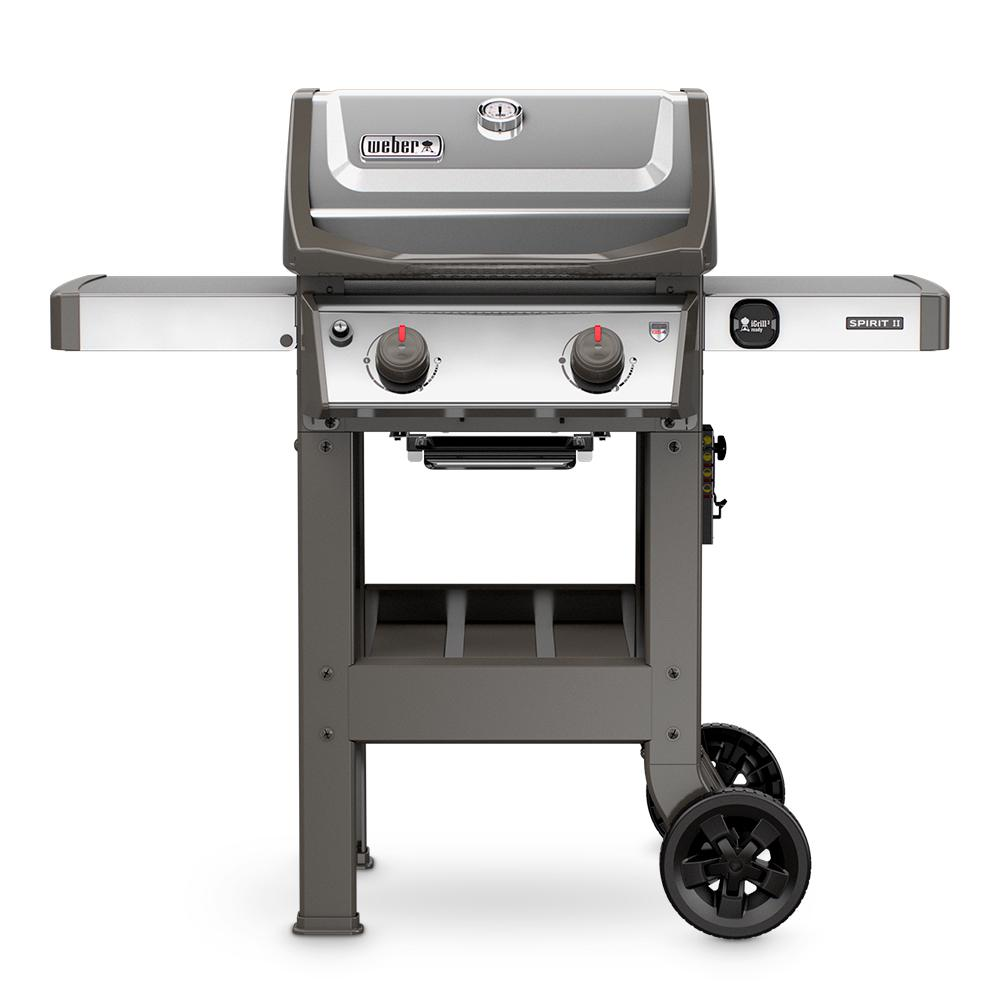 weber spirit ii s 210 2 burner propane gas grill stainless steel 44000001 the home depot. Black Bedroom Furniture Sets. Home Design Ideas