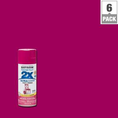 12 oz. Magenta Satin General Purpose Spray Paint (6-Pack)
