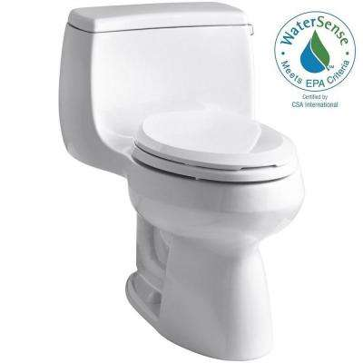 Gabrielle 1-Piece 1.28 GPF Single Flush Elongated Toilet with AquaPiston Flushing Technology in White, Seat Included
