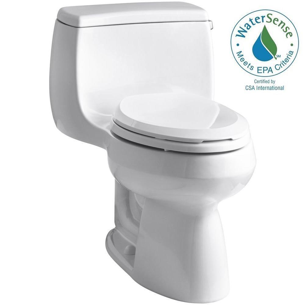 Gabrielle 1-Piece 1.28 GPF Single Flush Elongated Toilet with AquaPiston Flushing Technology in White