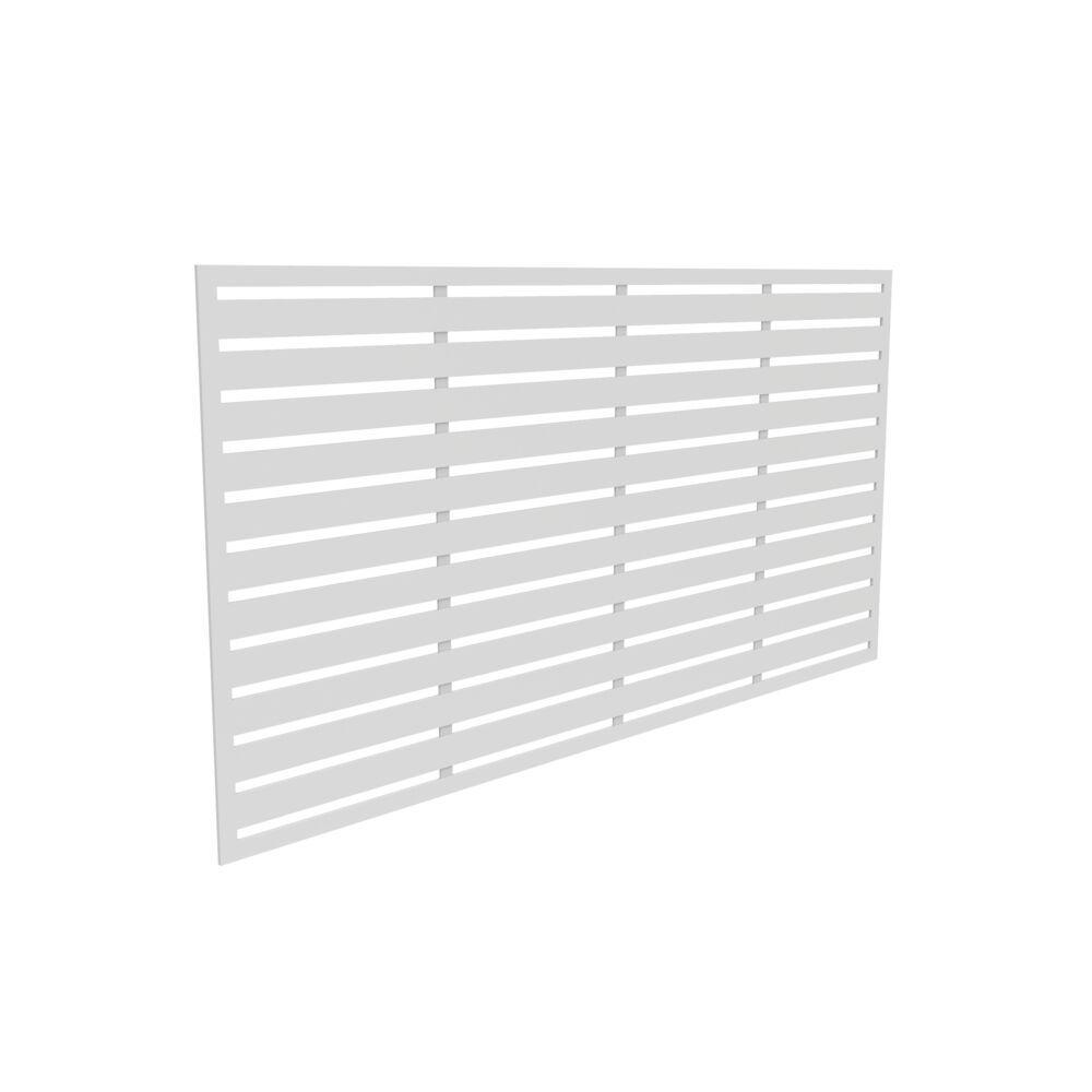 3 ft. x 6 ft. Boardwalk White Vinyl Decorative Screen Panel