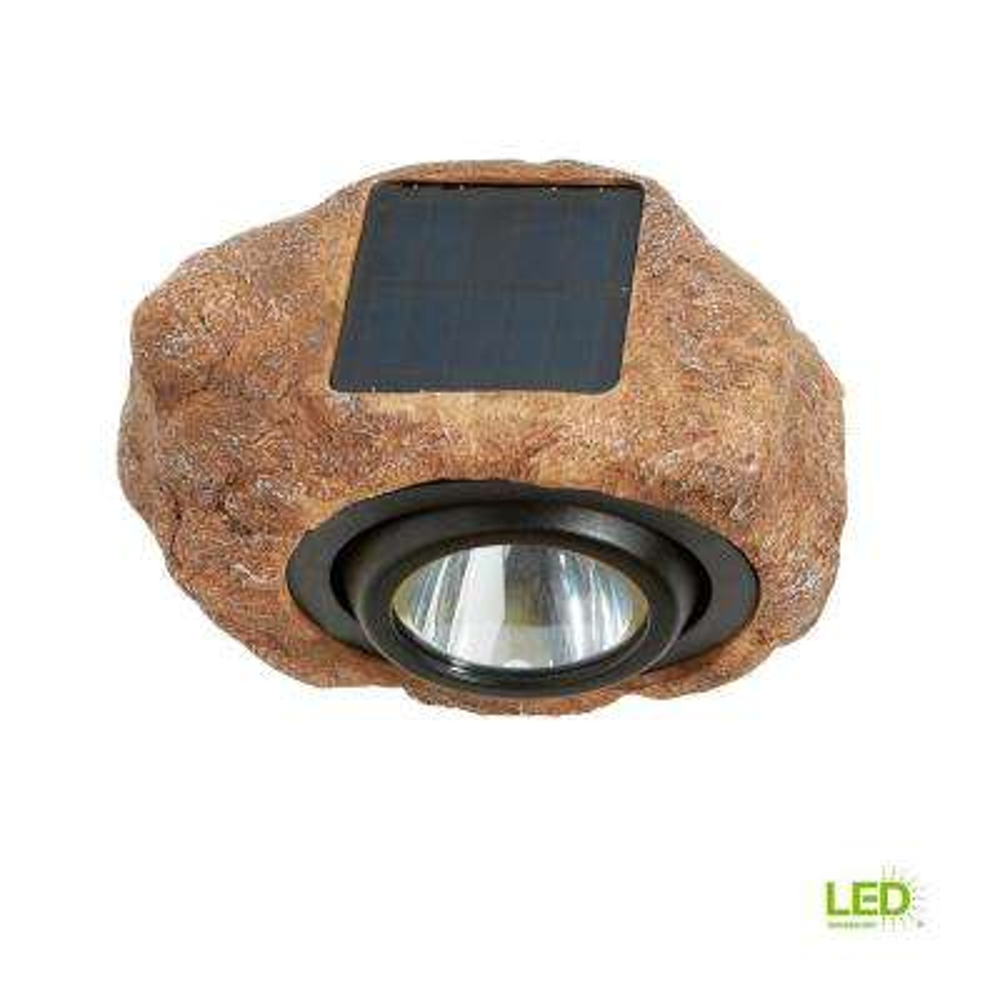 1-Light Solar Outdoor Integrated LED 3000K 30-Lumens Rock Spot Light
