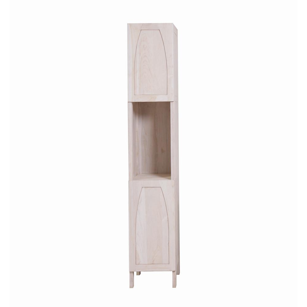 Tranquility 14 in. L x 17 in. W x 79 in. H Solid Teak Linen Closet in Driftwood