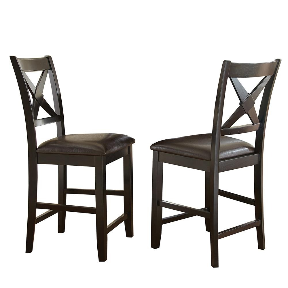 Steve Silver Company Violante 24 In Brown Counter Chairs