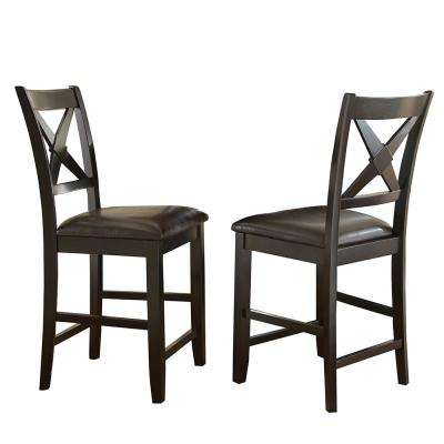 Violante 24 in. Brown Counter Chairs (Set of 2)
