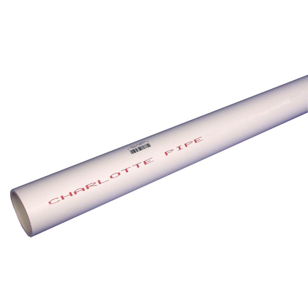 Charlotte Pipe 3/4 in. x 10 ft. PVC Sch. 40 Plain-End Pipe