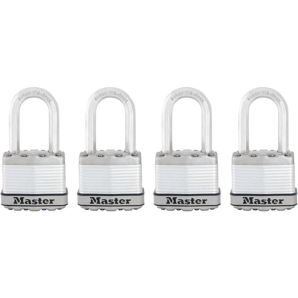 Master Lock Magnum 1-3/4 in. Laminated Steel Padlock with 1-1/2 in. Shackle (4-Pack)
