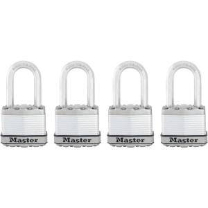 Master Lock Magnum 1-3/4 inch Laminated Steel Padlock with 1-1/2 inch Shackle (4-Pack) by Master Lock