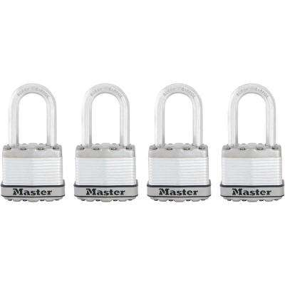 Magnum 1-3/4 in. Laminated Steel Padlock with 1-1/2 in. Shackle (4-Pack)