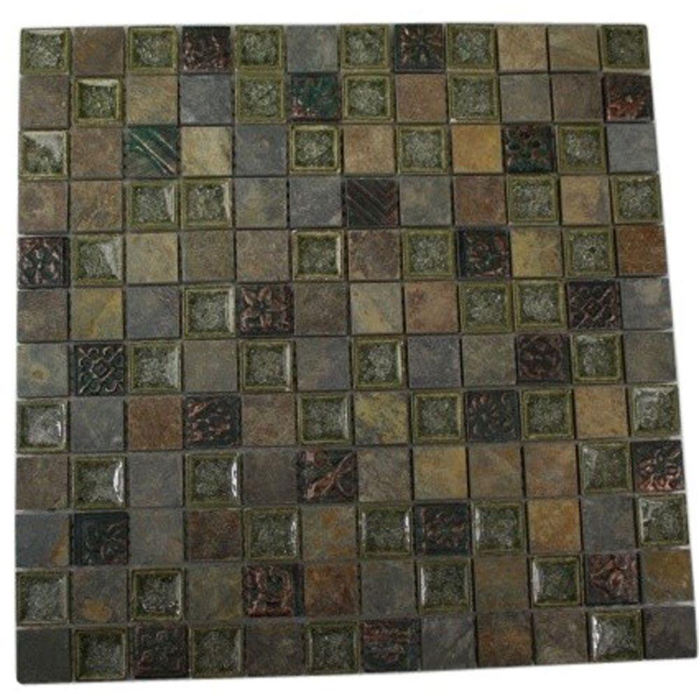 Splashback Tile Roman Selection Rural Trail 12 In X 12 In X 8 Mm