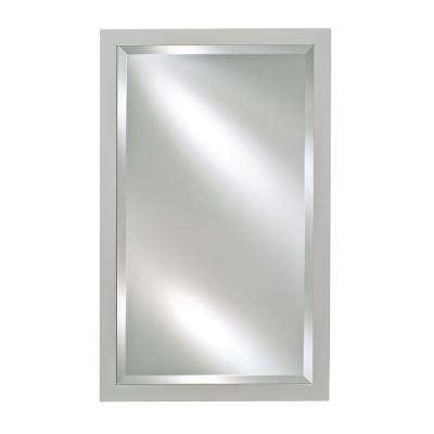 Single Door 16 in. x 26 in. Recessed Medicine Cabinet Basix Antique Satin White