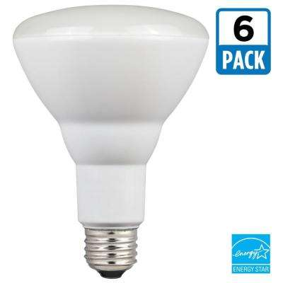 65W Equivalent Cool White BR30 Dimmable LED Light Bulb (6-Pack)