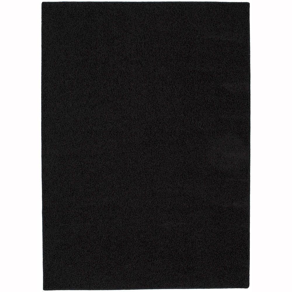Garland Rug Shazaam Blackest Black 4 ft. x 6 ft. Area Rug