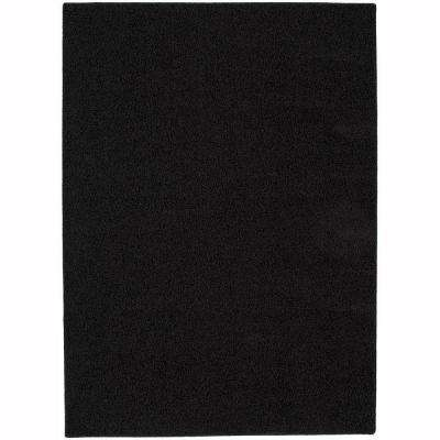 Shazaam Blackest Black 4 ft. x 6 ft. Area Rug