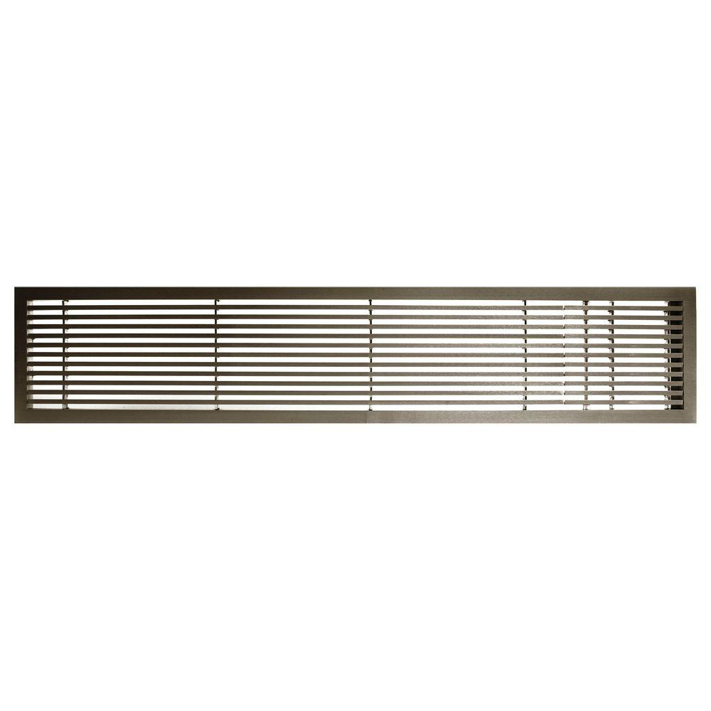 Architectural Grille AG20 Series 6 in. x 36 in. Solid Aluminum Fixed Bar Supply/Return Air Vent Grille, Antique Bronze with Right Door