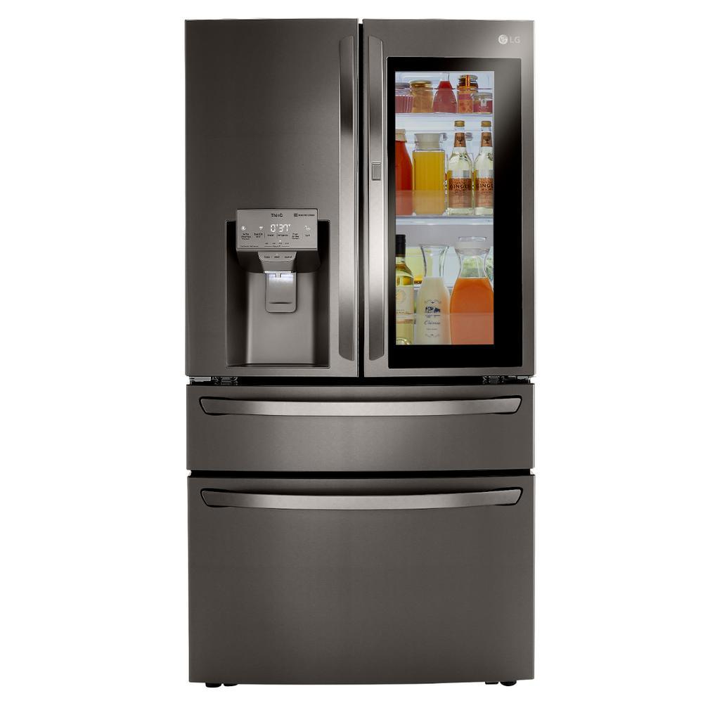 29.5 cu. ft. French Door Refrigerator InstaView Door-In-Door, Dual and Craft Ice in PrintProof Black Stainless Steel