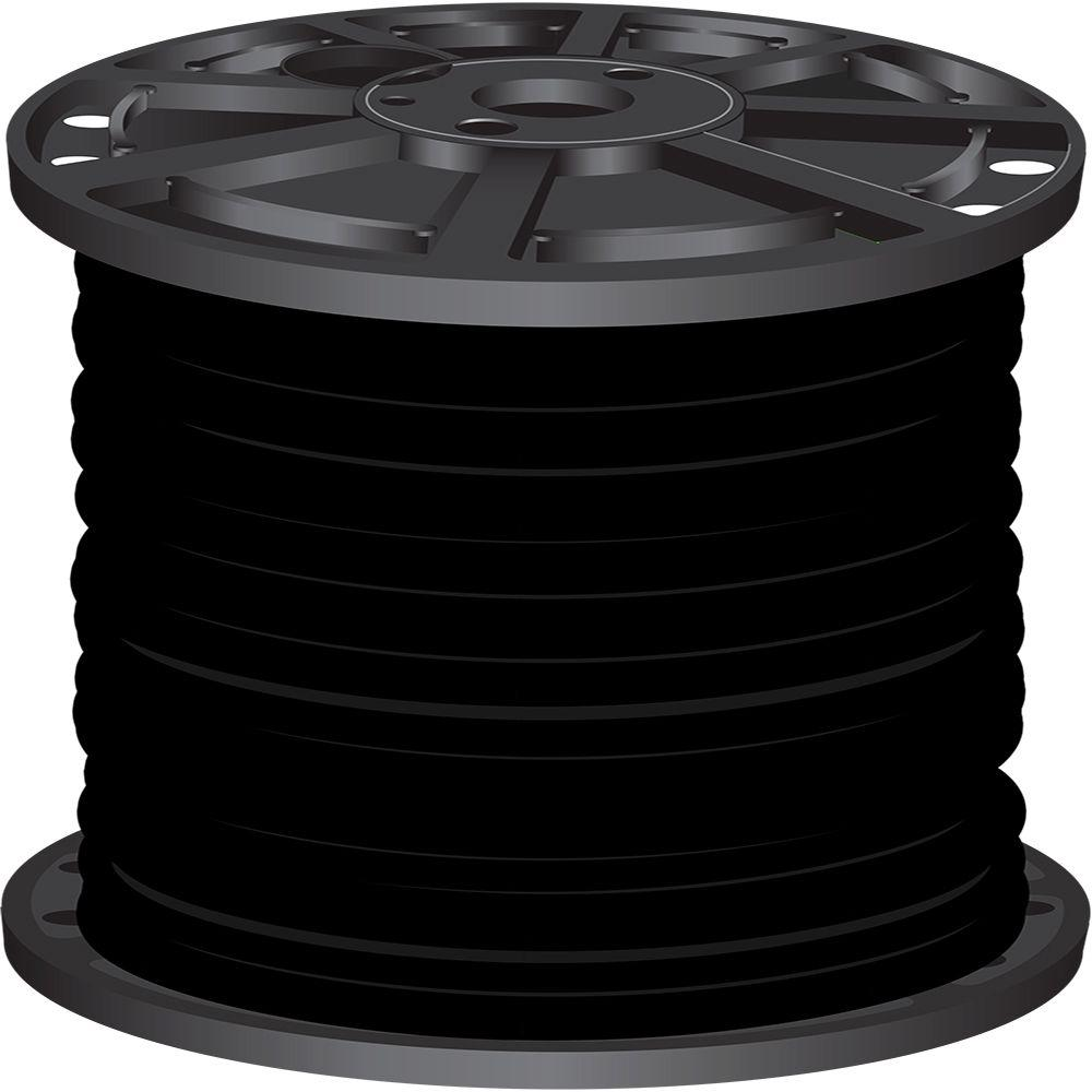 Southwire 2,500 ft. 2/0 Black Stranded CU SIMpull Thhn Wire