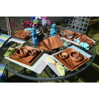 8-Piece Acacia Hardwood Appetizer Serving Tray Set