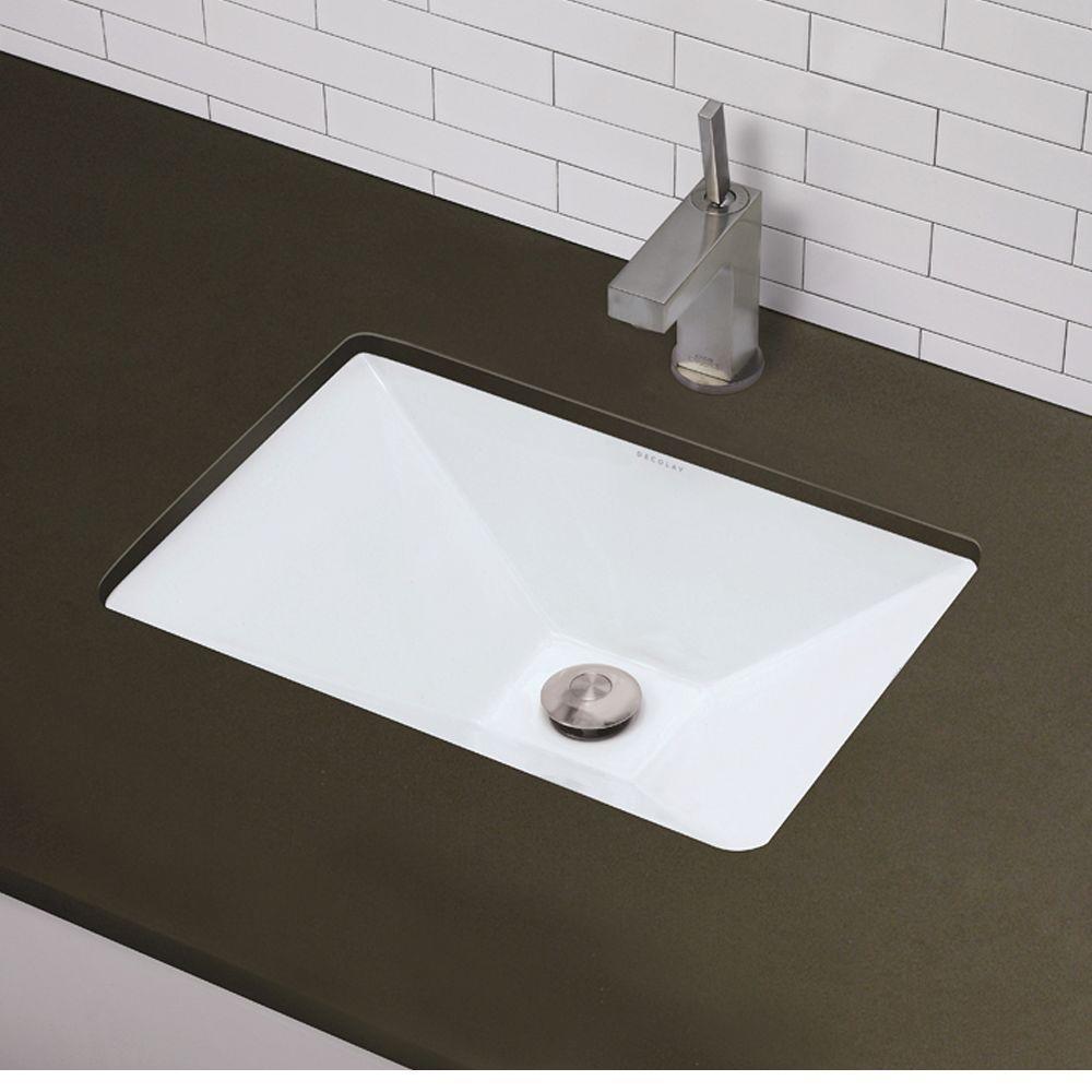Undermount Vitreous China Bathroom