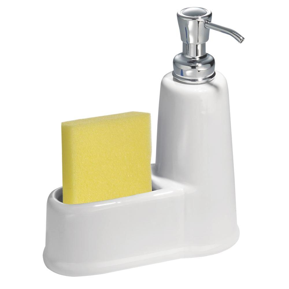interDesign York Soap and Sponge Caddy in White