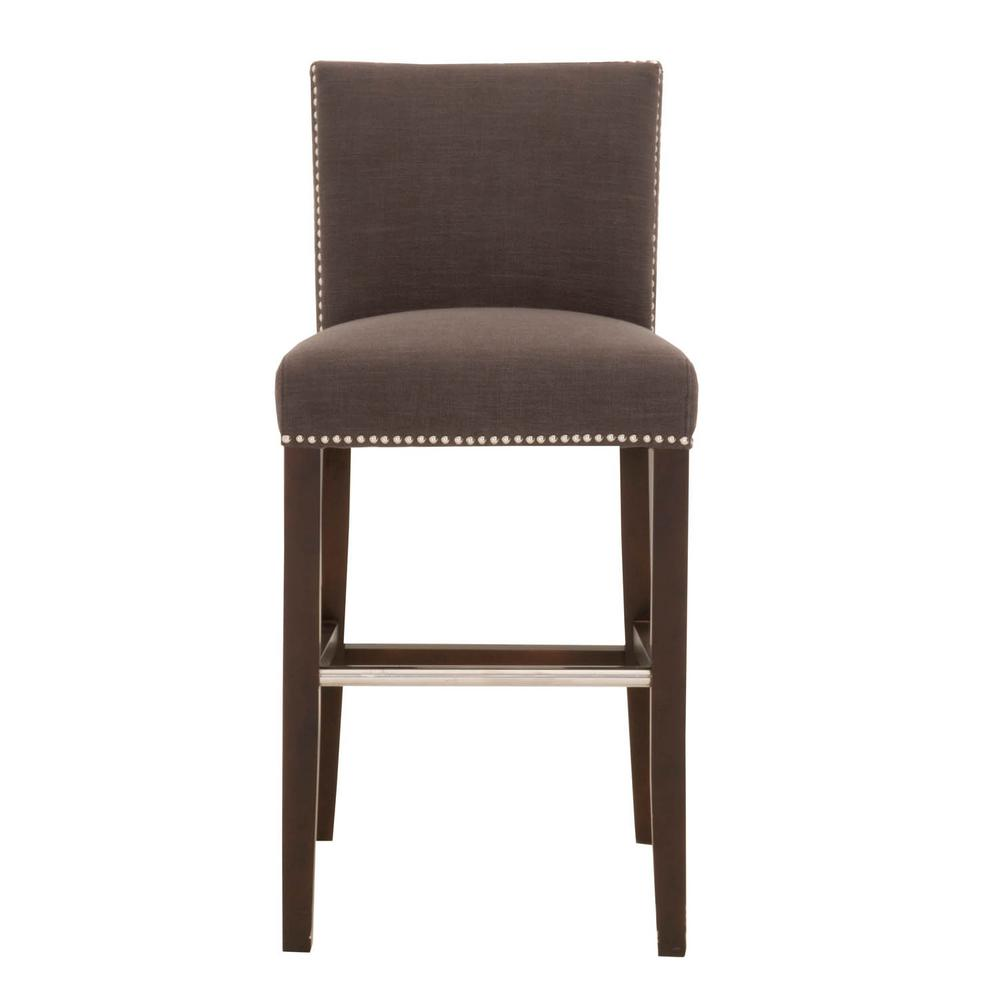 Orient Express Furniture Soho 30 In Sepia Fabric Espresso Bar Stool 7118bs Sep The Home Depot