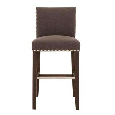 Soho 30 in. Sepia Fabric, Espresso Bar Stool
