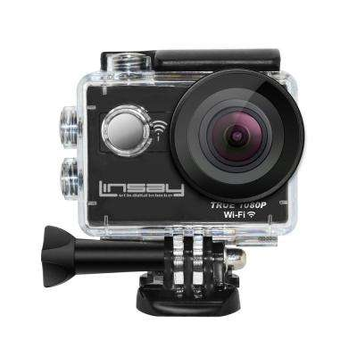 TRUE 1080p Action Camera Sport Outdoor Activities Video Photos Wi-Fi Kit Mounting Micro SD Card Slot up to 64GB