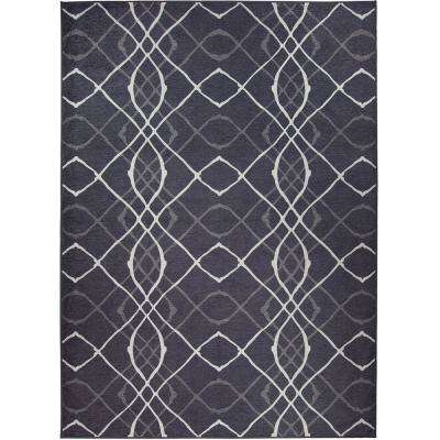 Washable Amara Charcoal 5 ft. x 7 ft. Stain Resistant Area Rug