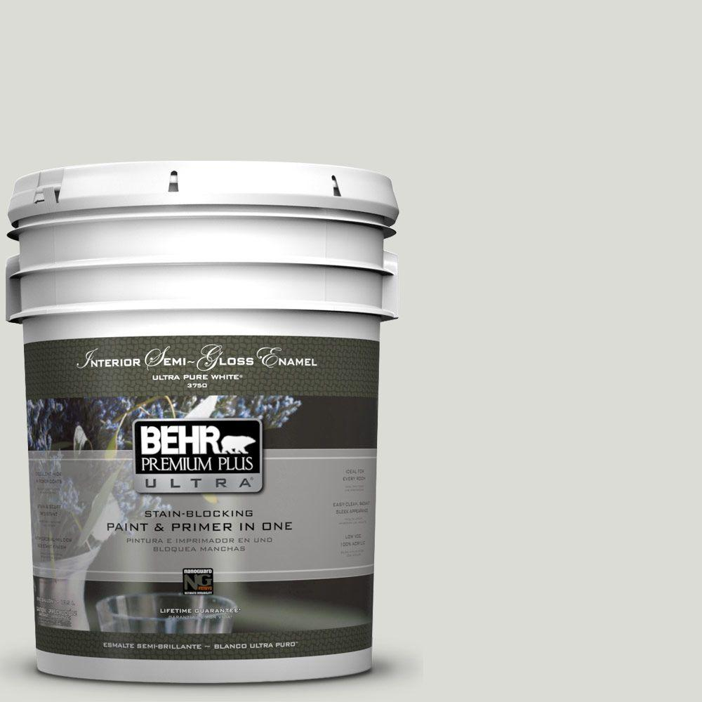 5-gal. #BWC-29 Silver Feather Semi-Gloss Enamel Interior Paint