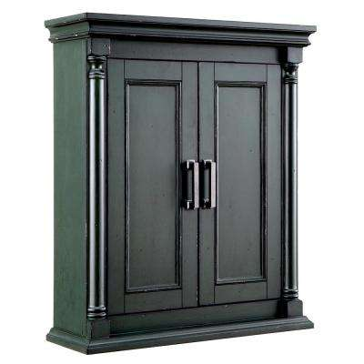 Greenbrook 25 in. W x 30 in. H Wall Cabinet in Vintage Forest Green
