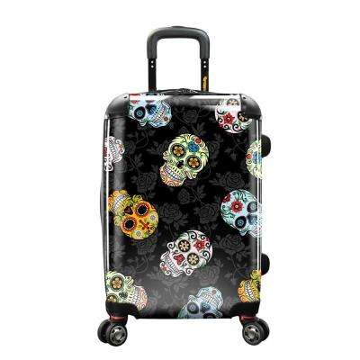 22 in. Sugar Skulls Personalized Expandable Carry-On Spinner