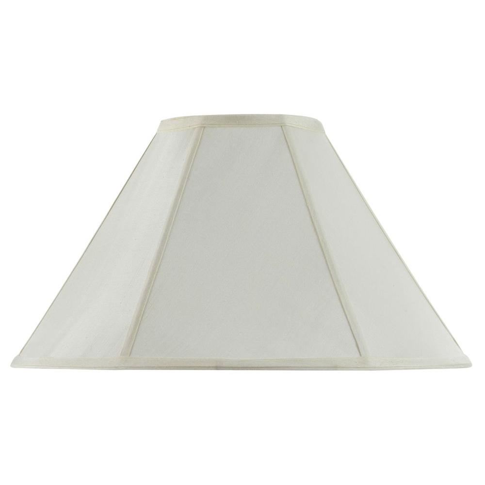 CAL Lighting 13 in. Eggshell Fabric Vertical Piped Basic ...