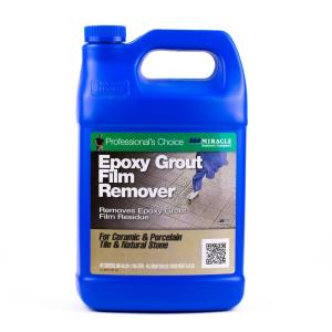 miracle sealants 128 oz epoxy grout film remover epo rem gal sg the home depot. Black Bedroom Furniture Sets. Home Design Ideas