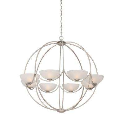 Carlucci 8-Light Linear Silver Chandelier
