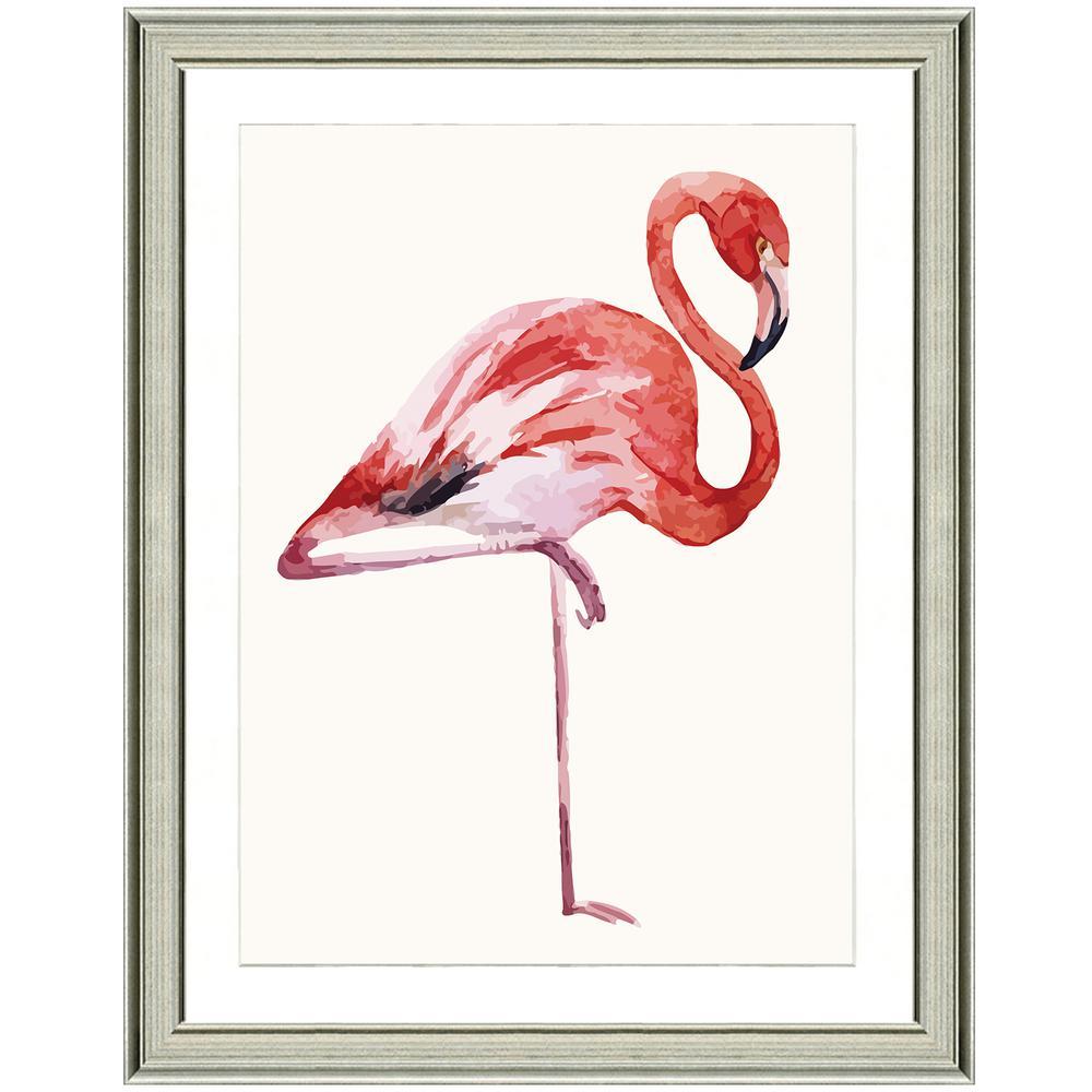 """""""Fiery flamingo II"""" Framed Archival Paper Wall Art (26x32 in full size)"""
