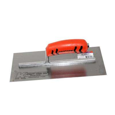 11-1/2 in. x 4-3/4 in. Carbon Steel Plaster Trowel with Handle