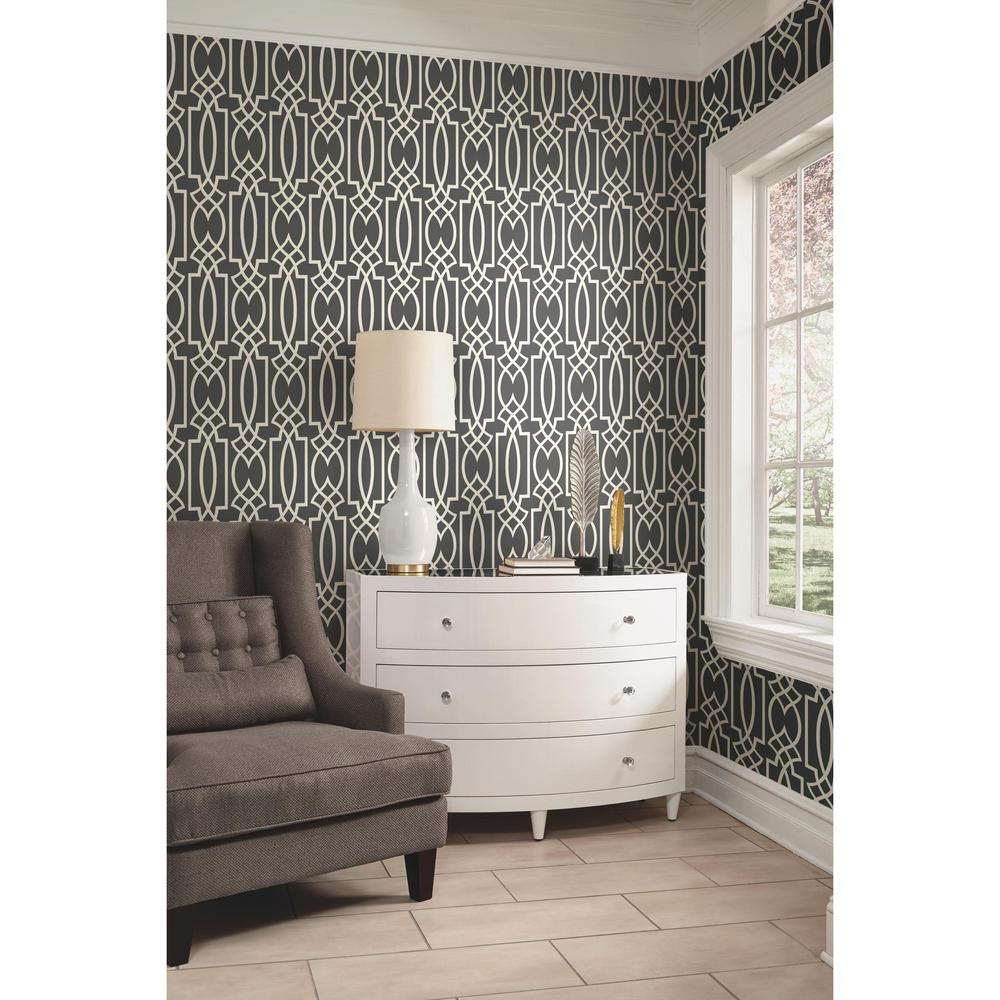 Wall coverings home depot york pattern play foxy for Wallpaper kit home depot