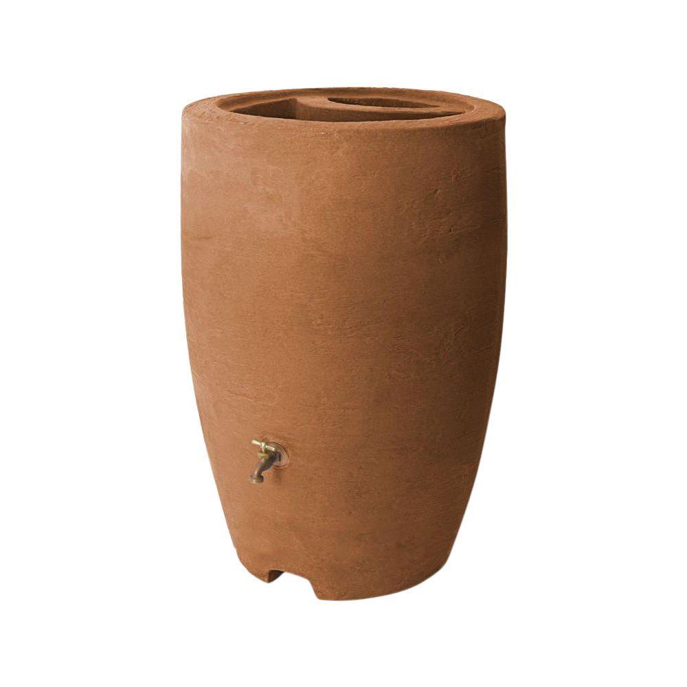 Athena 50 Gal. Terracotta Rain Barrel